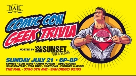 Comic Con Geek Trivia (All Your Favorite Topics!) in San Diego le So 21. Juli, 2019 18.00 bis 20.00 (After-Work Gay)