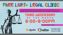 LGBT+ Legal Clinic em Orlando le qua, 20 novembro 2019 18:00-20:00 (Reuniões / Debates Gay, Lesbica)