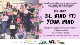 Be Kind to Your Mind (Orlando) in Orlando le Di 11. August, 2020 18.30 bis 20.30 (After-Work Gay, Lesbierin)