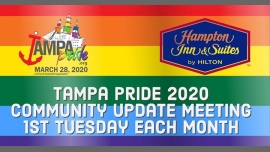 Monthly Community Update Meeting a Tampa le mar  3 marzo 2020 18:00-19:00 (Incontri / Dibatti Gay, Lesbica, Trans, Bi)