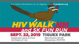 HIV Walk New Mexico & 5K Fun Run 2019 à Albuquerque le dim. 22 septembre 2019 de 12h00 à 15h00 (Festival Gay, Lesbienne, Trans, Bi)
