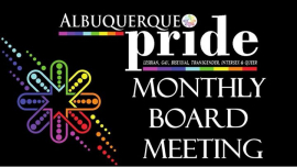 Monthly Board Meeting in Albuquerque le Mon, July 15, 2019 from 06:30 pm to 08:30 pm (Community life Gay, Lesbian, Trans, Bi)