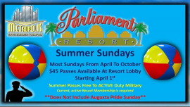 Summer Sundays At Parliament Resort a Augusta le dom 29 settembre 2019 12:00-18:00 (Clubbing Gay, Orso)