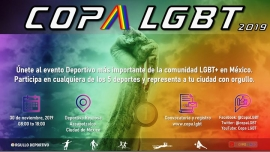 Copa LGBT 2019 in Mexiko le Sa 30. November, 2019 08.00 bis 19.00 (Sport Gay, Lesbierin, Hetero Friendly, Bi)