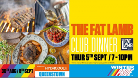 The Fat Lamb Club Dinner à Queenstown le jeu.  5 septembre 2019 de 19h00 à 22h00 (Festival Gay, Lesbienne)