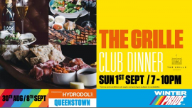 The Grille Club Dinner a Queenstown le dom  1 settembre 2019 19:00-22:00 (Festival Gay, Lesbica)