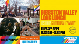 Gibbston Valley Long Lunch a Queenstown le mar  3 settembre 2019 11:30-15:30 (Festival Gay, Lesbica)