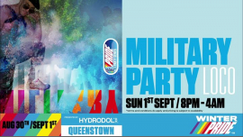 Military Party à Queenstown le dim.  1 septembre 2019 de 20h00 à 04h00 (Clubbing Gay, Lesbienne)