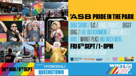ASB Pride in the Park in Queenstown le Fri, September  6, 2019 from 01:00 pm to 08:00 pm (Festival Gay, Lesbian)