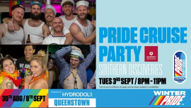 Pride Cruise Party in Queenstown le Tue, September  3, 2019 from 08:00 pm to 11:00 pm (Cruise Gay, Lesbian)