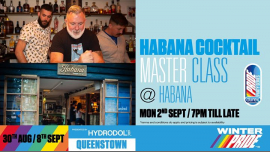 QueenstownHabana Cocktail Masterclass2019年 7月 2日,19:00(男同性恋, 女同性恋 下班后的活动)
