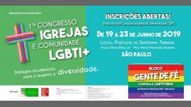 1º Congresso Igrejas E Comunidade LGBTI in São Paulo le Thu, June 20, 2019 from 09:00 am to 05:00 pm (Meetings / Discussions Gay, Lesbian, Trans, Bi)