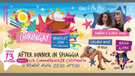 RiminiChiringay | a Piedi Nudi Sulla Spiaggia2019年10月20日,22:00(男同性恋, 女同性恋, 变性, 双性恋 下班后的活动)