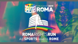 Roma Eurogames 2019 - Roma Rights Run 5 km (not competitive) in Rom le Sa 13. Juli, 2019 09.00 bis 16.00 (Sport Gay, Lesbierin, Transsexuell, Bi)