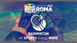 Roma Eurogames 2019 - Badminton Tournament à Rome le ven. 12 juillet 2019 de 09h00 à 21h00 (Sport Gay, Lesbienne, Trans, Bi)