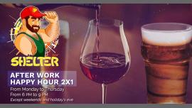 After Work Happy Hour 2 x 1 [Shelter Bar Lisboa] à Lisbonne le mar. 21 mai 2019 de 18h00 à 22h00 (After-Work Gay, Bear)