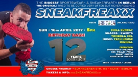 Sneakfreaxx ★ 12 YEARS ★ Easter 2017 ★ Part 2/2 meets Italy à Berlin le dim. 16 avril 2017 de 17h00 à 23h00 (After-Work Gay)