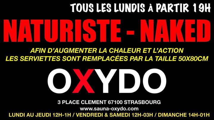 Soirée naturiste naked in Strasbourg le Mon, January 13, 2020 from 07:00 pm to 01:00 am (Sex Gay)