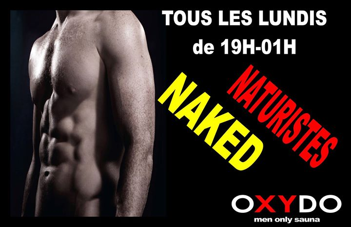 Soirée naturiste naked in Strasbourg le Mon, April 22, 2019 from 07:00 pm to 01:00 am (Sex Gay)