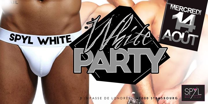 WHITE PARTY à Strasbourg le mer. 14 août 2019 de 22h30 à 07h00 (Clubbing Gay Friendly)