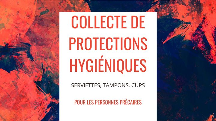 Collecte de protections hygiéniques à Strasbourg le ven. 10 janvier 2020 de 18h00 à 20h00 (Rencontres / Débats Gay, Lesbienne)