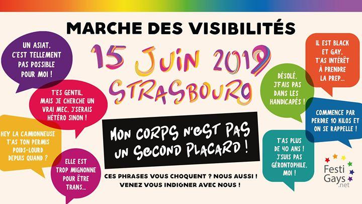 Marche des Visibilités LGBTI - Strasbourg - 2019 à Strasbourg le sam. 15 juin 2019 de 14h00 à 17h00 (Parades / Défilés Gay, Lesbienne)