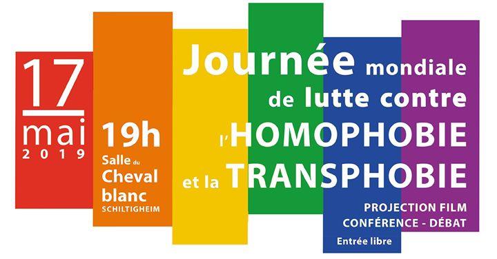 Stop homophobie et transphobie in Schiltigheim le Fr 17. Mai, 2019 19.00 bis 23.00 (Begegnungen Gay, Lesbierin)