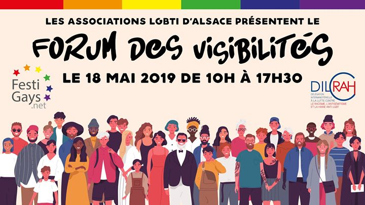 Forum des Visibilités in Strasbourg le Sat, May 18, 2019 from 09:45 am to 05:30 pm (Meetings / Discussions Gay, Lesbian)