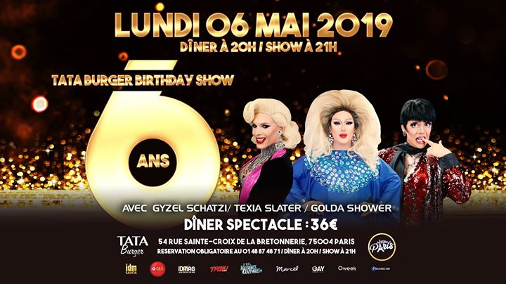 Le Tata fête ses 6 ans avec les Folles de Paris ! in Paris le Mo  6. Mai, 2019 20.00 bis 23.59 (After-Work Gay Friendly)