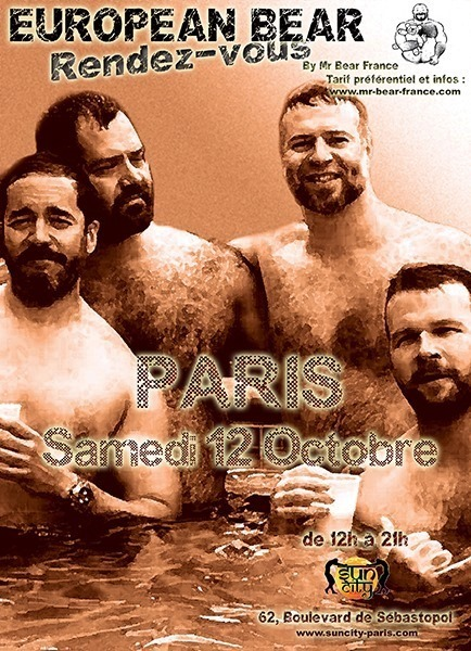 European Bear RdV à Paris in Paris le Sa 12. Oktober, 2019 14.00 bis 20.00 (Sexe Gay)