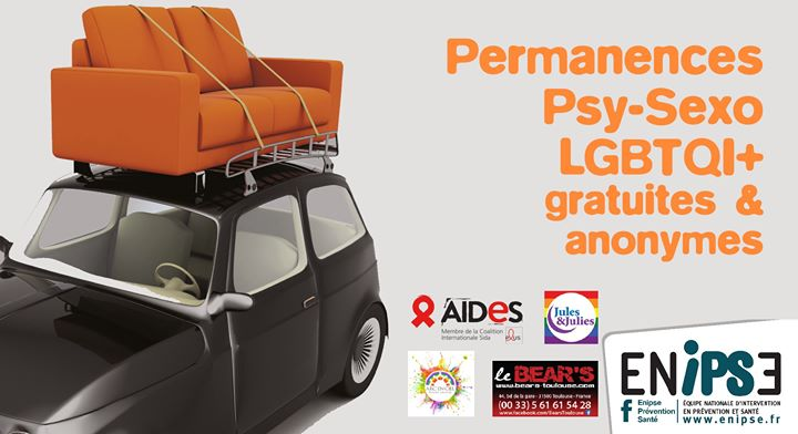 Permanence Psy Et Sexo Lgbtqi+ in Toulouse le Fri, January 31, 2020 from 11:00 pm to 01:00 am (Health care Gay, Bear)