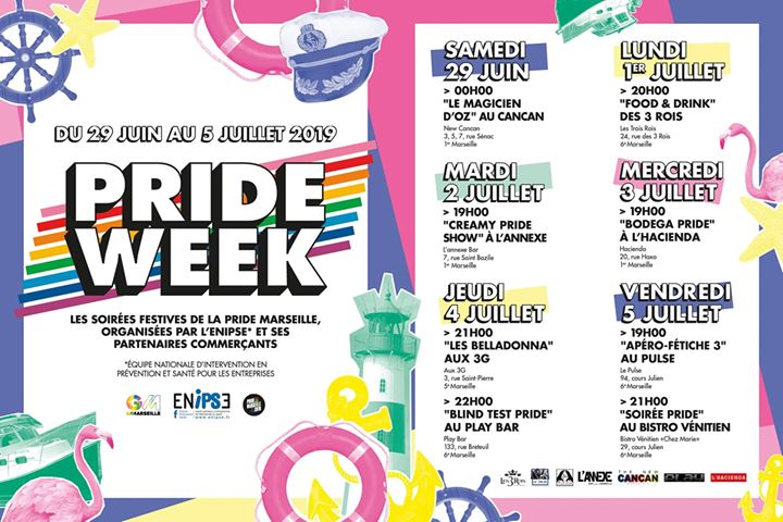 FOOD & DRINK PRIDE - Les Trois Rois en Marsella le lun  1 de julio de 2019 19:00-01:00 (After-Work Gay, Lesbiana)