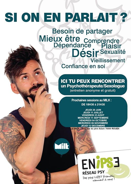 Si on en parlait ? Permanence Ecoute Psy Et Sexo in Rouen le Thu, December 12, 2019 from 06:30 pm to 09:30 pm (Health care Gay, Lesbian)