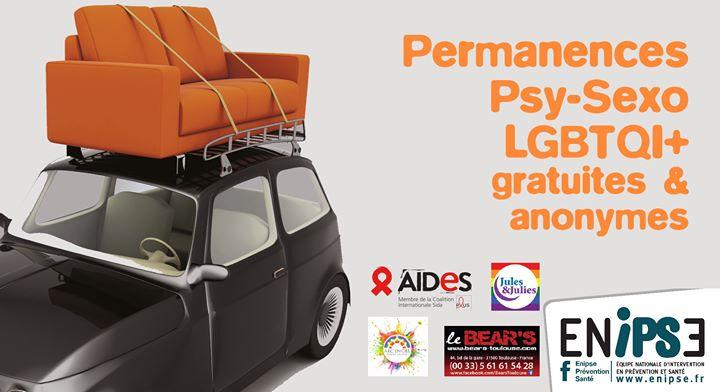 Permanence Psy Et Sexo Lgbtqi+ em Toulouse le qua, 27 maio 2020 18:00-20:00 (Prevenção saúde Gay, Bear)
