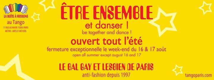 Le Bal LGBT du Tango a Parigi le ven  9 agosto 2019 22:30-05:00 (Clubbing Gay, Lesbica)