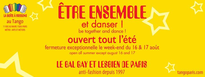 Le Bal LGBT du Tango in Paris le Sat, August 10, 2019 from 10:30 pm to 05:00 am (Clubbing Gay, Lesbian)