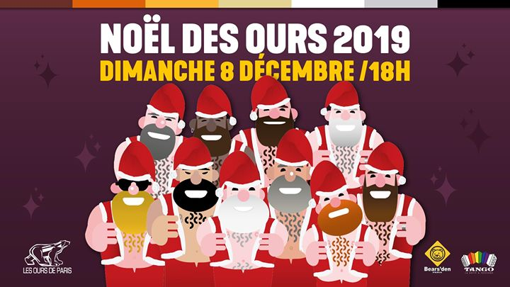 Le Noël des Ours 2019 in Paris le Sun, December  8, 2019 from 06:00 pm to 11:00 pm (Clubbing Gay, Lesbian)