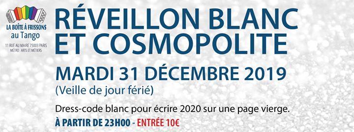 Réveillon Blanc et Cosmopolite. in Paris le Di 31. Dezember, 2019 23.00 bis 06.00 (Clubbing Gay, Lesbierin)