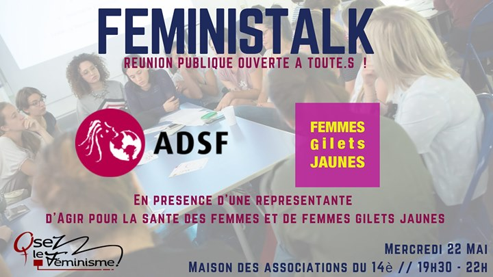 Féministalk : Pauvreté et précarité des femmes in Paris le Wed, May 22, 2019 from 07:30 pm to 09:30 pm (Meetings / Discussions Lesbian)