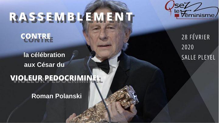 Rassemblement Féministe lors des Césars 2020 à Paris le ven. 28 février 2020 de 18h00 à 21h00 (Rencontres / Débats Lesbienne)