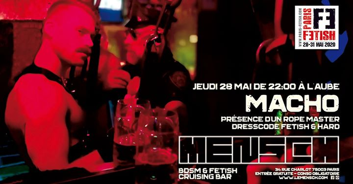 Macho /// PF#7 à Paris le jeu. 28 mai 2020 de 22h00 à 05h00 (Sexe Gay, Bear)