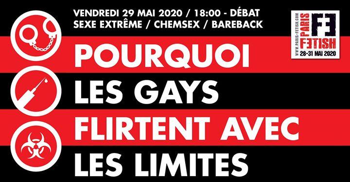 Débat : pourquoi les gays flirtent avec les limites /// PF#7 in Paris le Fri, May 29, 2020 from 06:00 pm to 08:00 pm (Meetings / Discussions Gay, Lesbian, Hetero Friendly, Bear)