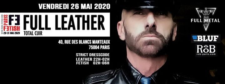 Full Leather /// PF#7 à Paris le ven. 29 mai 2020 de 22h00 à 06h00 (Sexe Gay, Bear)