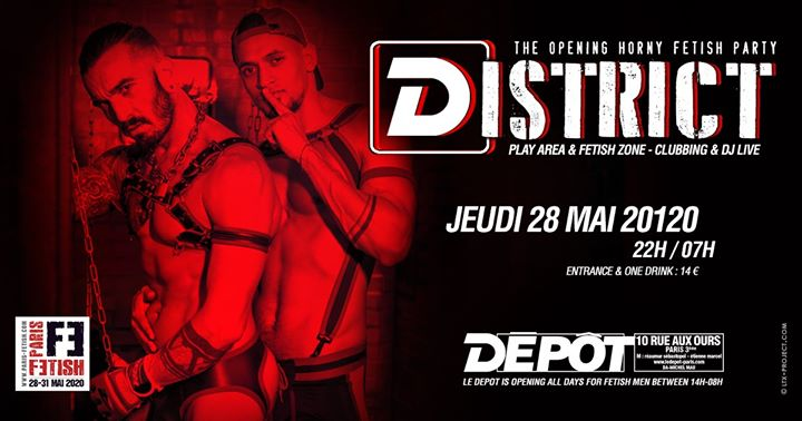 District /// PF#7 à Paris le jeu. 28 mai 2020 de 22h00 à 07h00 (Clubbing Gay, Bear)