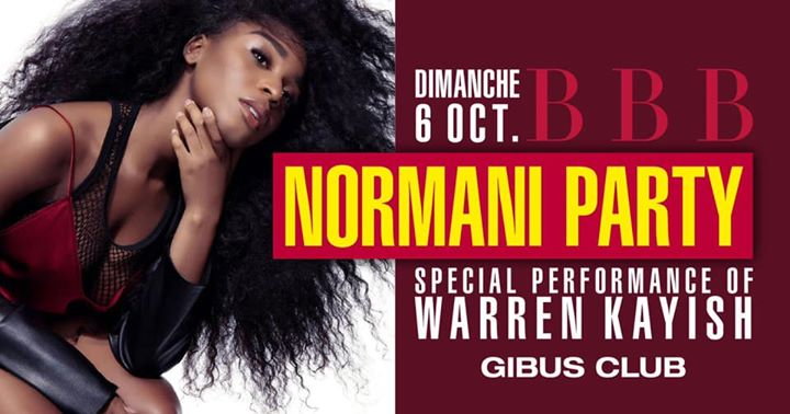 BBB : Normani Party in Paris le Sun, October  6, 2019 from 11:00 pm to 06:00 am (Clubbing Gay)