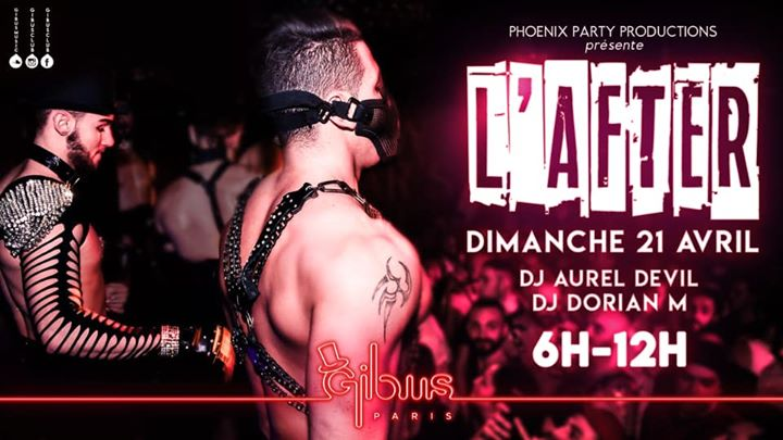 L'AFTER #1 à Paris le dim. 21 avril 2019 de 06h00 à 12h00 (After Gay Friendly)