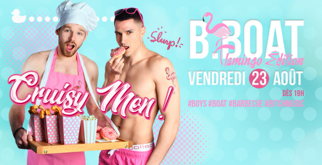 B.Boat Summer Party - Flamingo Édition à Paris le ven. 23 août 2019 de 19h00 à 04h00 (After-Work Gay)