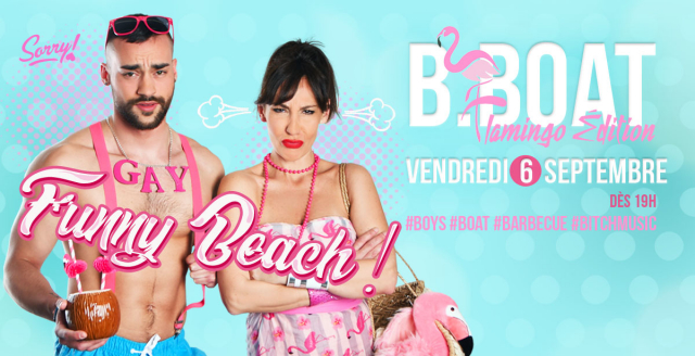 B.Boat Summer Party - Flamingo Édition à Paris le ven.  6 septembre 2019 de 19h00 à 04h00 (After-Work Gay)