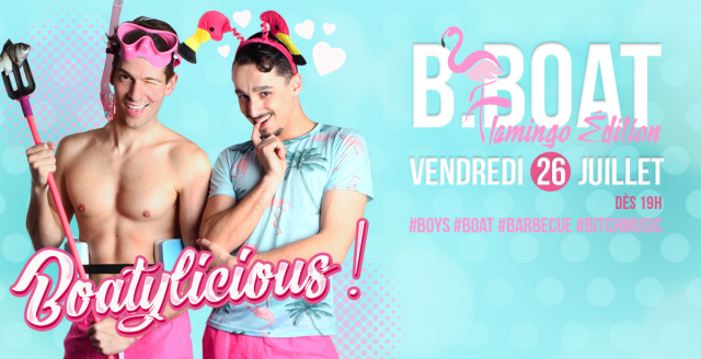 B.Boat Summer Party - Flamingo Édition in Paris le Fri, July 26, 2019 from 07:00 pm to 04:00 am (After-Work Gay)