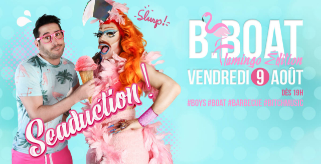 B.Boat Summer Party - Flamingo Édition in Paris le Fri, August  9, 2019 from 07:00 pm to 04:00 am (After-Work Gay)